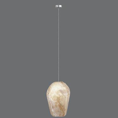 Natural Inspirations 1-Light Mini Pendant Finish: Platinized Silver, Shade Color: Natural
