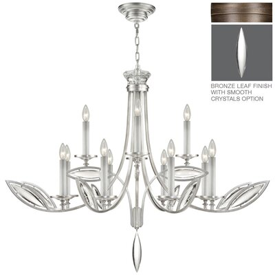 Marquise 12-Light Candle-Style Chandelier Finish: Rubbed Bronze