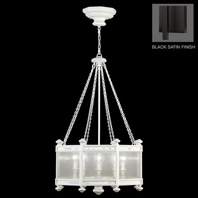 Black + White Story 8-Light Pendant Finish: Black Satin