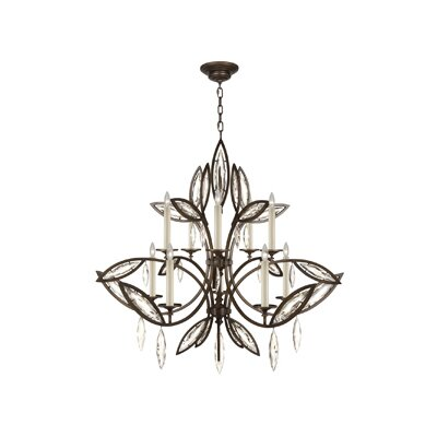 Marquise 10-Light Candle-Style Chandelier Finish: Antique Rubbed Bronze