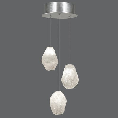 Natural Inspirations 3-Light Cascade Pendant Finish: Platinized Silver