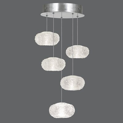 Natural Inspirations 5-Light Pendant Finish: Platinized Silver