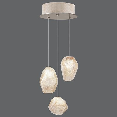 Natural Inspirations 3-Light Pendant Finish: Gold Toned Silver