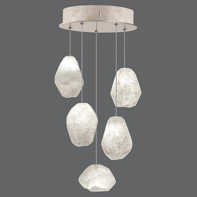 Natural Inspirations 5-Light Cluster Pendant Finish: Gold Toned Silver