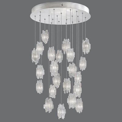 Natural Inspirations 22-Light Pendant Finish: Platinized Silver