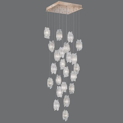 Natural Inspirations 22-Light Cascade Pendant Finish: Gold Toned Silver