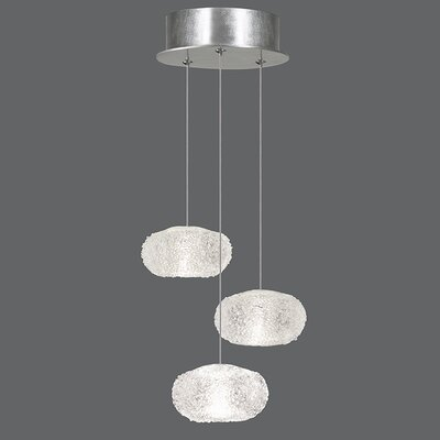 Natural Inspirations 3-Light Pendant Finish: Platinized Silver