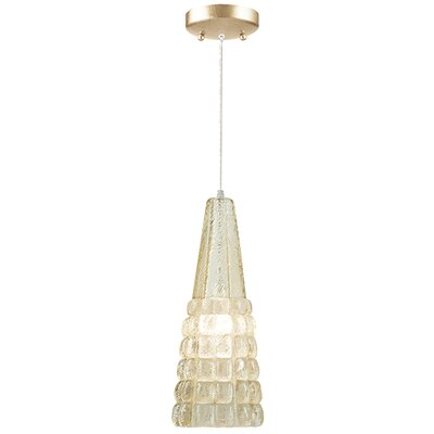 Constructivism 1-Light Mini Pendant Finish: Gold, Shade Color: Sunrise Gold