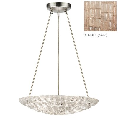 Constructivism 3-Light Bowl Pendant Finish: Silver, Shade Color: Sunset Blush