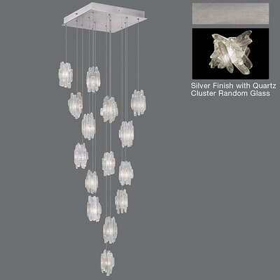 Natural Inspirations 15-Light Pendant Finish: Platinized Silver