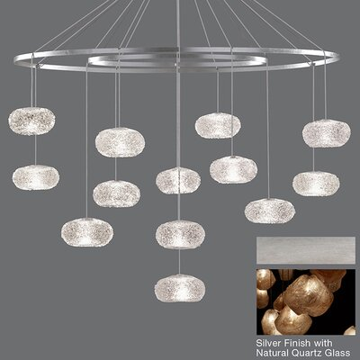 Natural Inspirations 12-Light Candle-Style Chandelier Finish: Platinized Silver