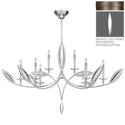 Marquise 8-Light Candle-Style Chandelier Finish: Antique Rubbed Bronze
