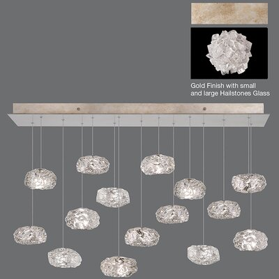 Natural Inspirations 15-Light Kitchen Island Pendant Finish: Gold Toned Silver