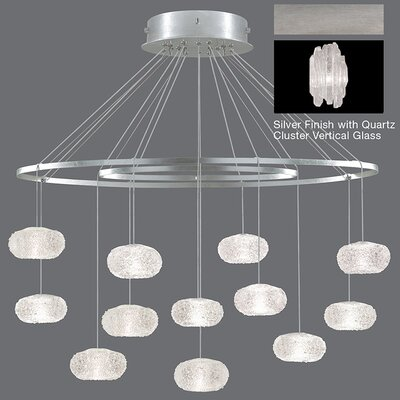 Natural Inspirations 12-Light Pendant Finish: Platinized Silver