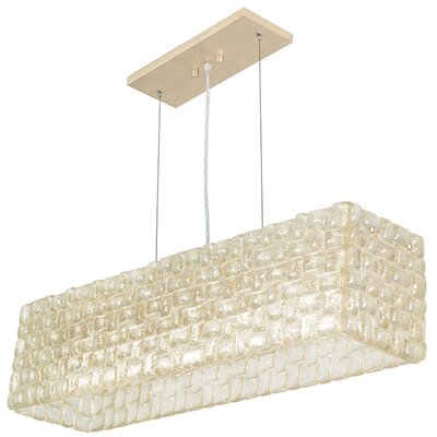 Constructivism 5-Light Pendant Finish: Gold, Shade Color: Sunrise Gold