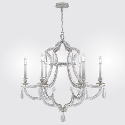 Prussian Neoclassic 6-Light Candle-Style Chandelier Finish: Silver Gray