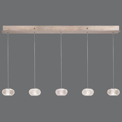 Natural Inspirations 5-Light Kitchen Island Pendant Finish: Gold Toned Silver