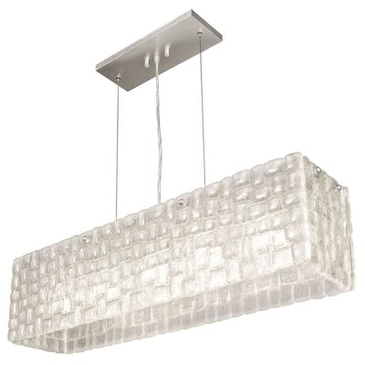 Constructivism 5-Light Kitchen Island Pendant Finish: Silver, Shade Color: Moonlit Mist