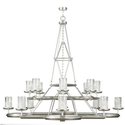 Liaison 16-Light Candle-Style Chandelier Finish: Platinized Silver