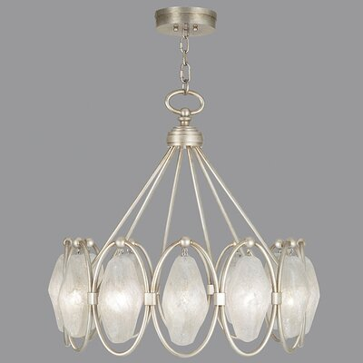 Quartz and Iron 12-Light Cluster Pendant Finish: Aged Silver, Shade Color: Clear