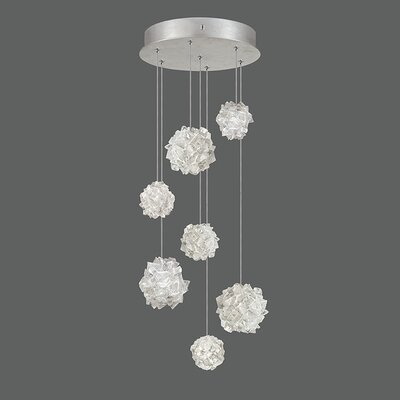 Natural Inspirations 7-Light Cascade Pendant Finish: Platinized Silver