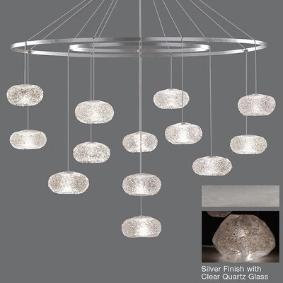 Natural Inspirations 12-Light Waterfall Chandelier Finish: Platinized Silver