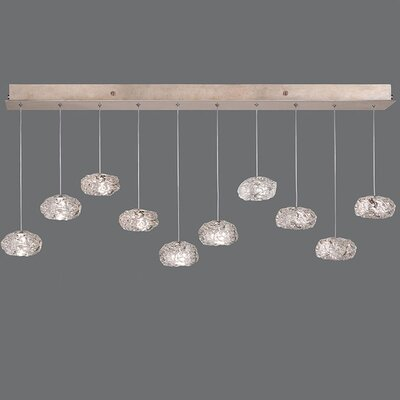 Natural Inspirations 10-Light Kitchen Island Pendant Finish: Gold Toned Silver