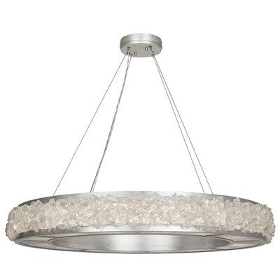 Arctic Halo 16-Light Drum Pendant Finish: Platinized Silver Leaf