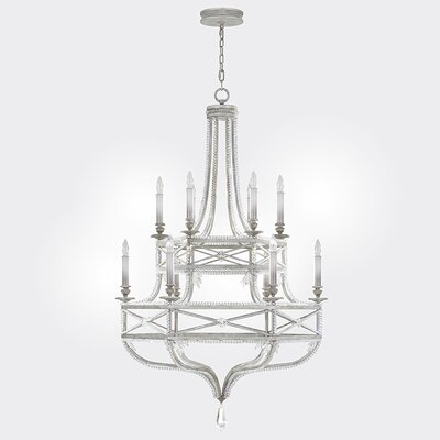 Prussian Neoclassic 12-Light Candle-Style Chandelier Finish: Silver Gray