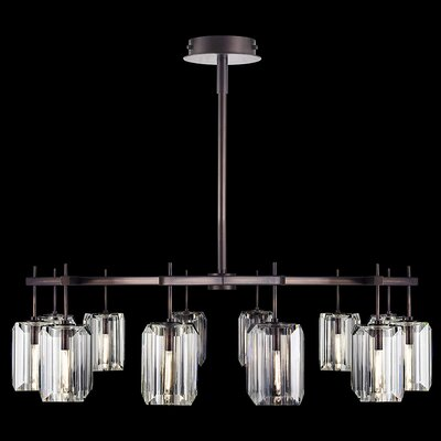 Monceau 12-Light Crystal Chandelier Finish: Bronze
