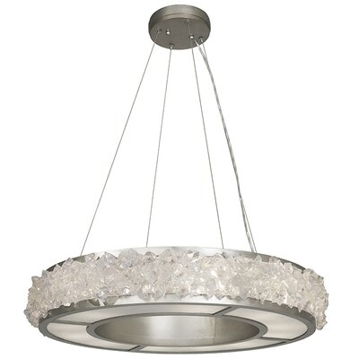 Arctic Halo 12-Light Drum Pendant Finish: Platinized Silver