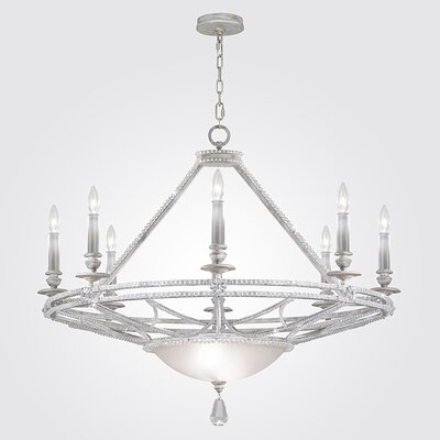 Prussian Neoclassic 8-Light Candle-Style Chandelier Finish: Silver Gray