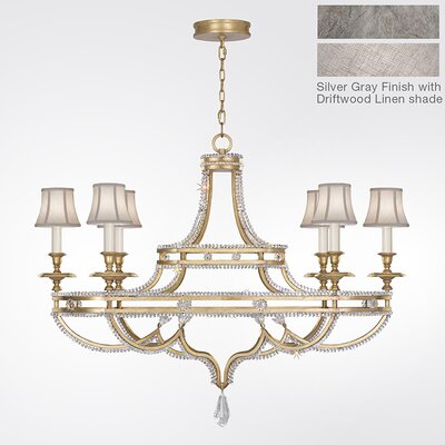 Prussian Neoclassic 6-Light Shaded Chandelier Finish: Silver Gray