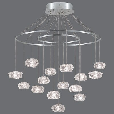 Natural Inspirations 15-Light Candle-Style Chandelier Finish: Gold Toned Silver