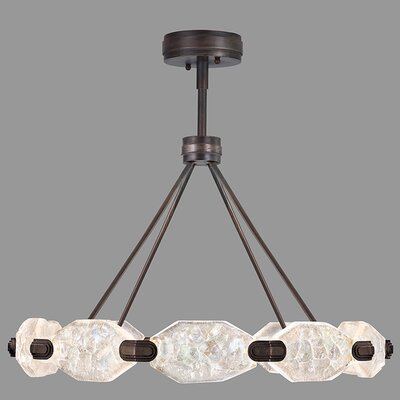 Allison Paladino 20-Light LED Crystal Pendant Finish: Patinated Bronze