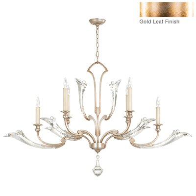 Ice Sculpture 6-Light Candle-Style Chandelier Finish: Gold