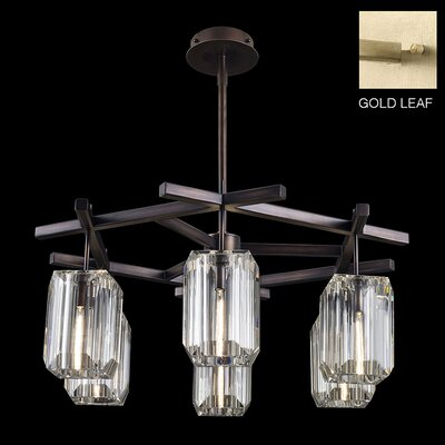Monceau 6-Light Crystal Chandelier Finish: Gold