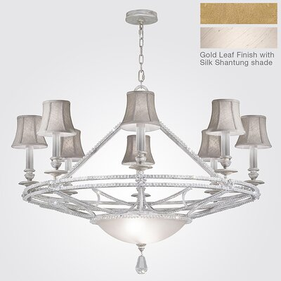 Prussian Neoclassic 8-Light Shaded Chandelier Finish: Gold