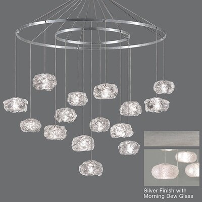 Natural Inspirations 15-Light Candle-Style Chandelier Finish: Platinized Silver