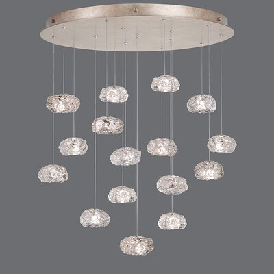 Natural Inspirations 16-Light Cascade Pendant Finish: Gold Toned Silver