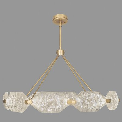 Allison Paladino 20-Light Kitchen Island Pendant Finish: Gold
