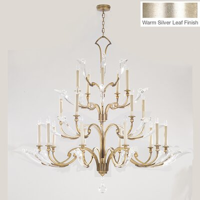 Ice Sculpture 20-Light Candle-Style Chandelier Finish: Silver