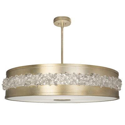Arctic Halo 3-Light Drum Pendant Finish: Champagne Gold