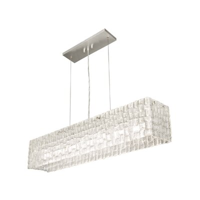 Constructivism 7-Light Kitchen Island Pendant Finish: Silver, Shade Color: Moonlit Mist