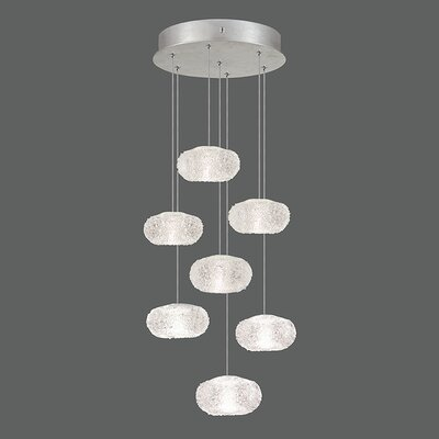 Natural Inspirations 7-Light Pendant Finish: Platinized Silver