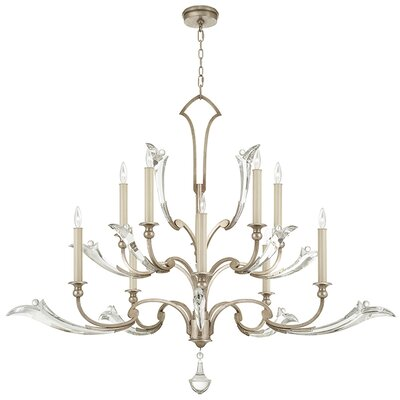 Ice Sculpture 10-Light Candle-Style Chandelier Finish: Silver