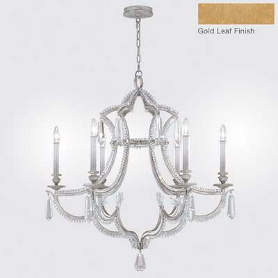 Prussian Neoclassic 6-Light Candle-Style Chandelier Finish: Gold