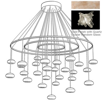 Natural Inspirations 27-Light Candle-Style Chandelier Finish: Gold Toned Silver