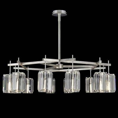 Monceau 12-Light Crystal Chandelier Finish: Platinized Silver