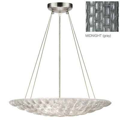 Constructivism 3-Light Bowl Pendant Finish: Silver, Shade Color: Midnight Gray